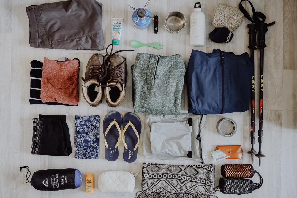 Die vollständige Packliste für deine Wanderung