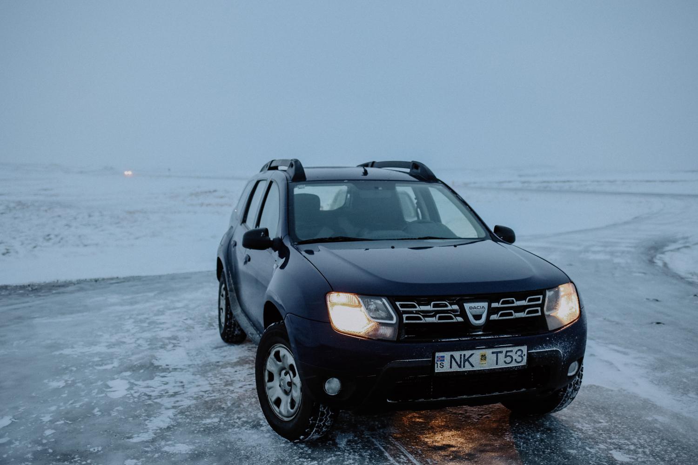 Island Winter Autofahren