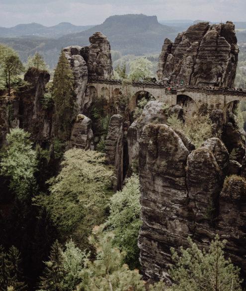 Wandern Bastei Sächsische Schweiz
