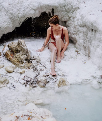 Bagni San Filippo heiße Quellen Toskana